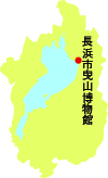 長浜市曳山博物館の位置
